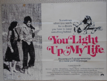 You Light Up My Life, Original UK Quad Poster, Didi Conn, Joe Silver '77